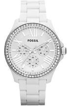 Fossil Women's Cecile White Plastic Watch- AM4494