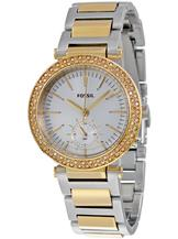 FOSSIL Urban Traveler Silver Dial Two-tone Stainless Steel Ladies Watch-ES3850I