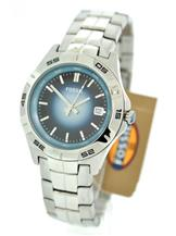 Fossil Silver Stainless Steel Blue Dial Mens Watch-AM4380
