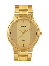 timex classic analog gold dial men's watch-TW000T607