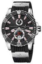 Ulysse Nardin Maxi Marine Diver Black Dial Black Rubber Men's Watch-263-10-3/92