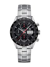 Tag Heuer Carrera Automatic Chronograph Black Dial Stainless Steel Men's Silver Watch-CV201AH.BA0725
