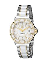 TAG Heuer Women's Formula 1 Two-Tone Bracelet Watch with White Ceramic and Diamonds-WAH1221.BB0865