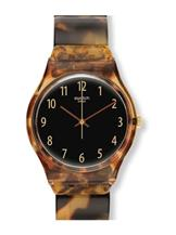 Swatch Originals Brown Plastic Swiss Quartz Watch-GC113A