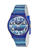 Swatch Linajola Blue Dial Blue Plastic Unisex Watch-GN237