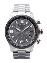 Gucci G-timeless Grey Dial Stainless Steel Men's Watch-YA126238