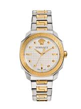 Versace Women's Dylos Analog Display Swiss Quartz Two Tone Watch-VQD050015