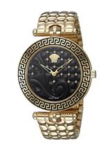 Versace Women's Vanitas Analog Display Swiss Quartz Gold Watch-VK7250015