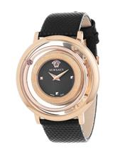 Versace Analogue Black Dial Women's Watch-VFH030013