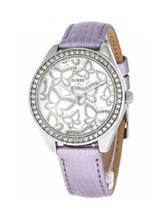 Guess Ladies Leather  Analog Watch-W0308L1