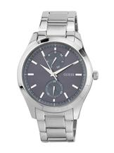 Guess Silver Tone/Blue Analog Watch-W0373G3