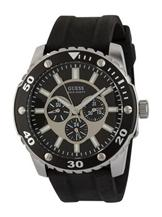 Guess Gents Chronograph Black Rubber Strap Watch -W10616G1
