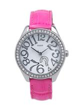 Guess women's Pink Leather watch-W11130L1