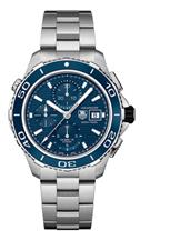 TAG Heuer Aquaracer Chronograph Blue Dial Stainless Steel Men's Watch-CAK2112.BA0833