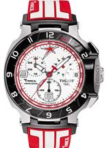 Tissot T-Race Limited Edition Chronograph White Dial Red and White Rubber Men's Watch-T0484172701700
