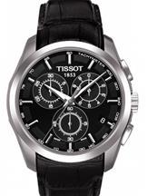 Tissot T-Trend Couturier Black Dial Chronograph Mens Watch-T0356171605100