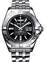 Breitling Galactic 41 Black Dial Men's Watch-A49350L2/BA07/366A