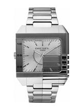 Diesel Mens Stainless Steel And Mirrored Analogue Bracelet Watch-DZ1398
