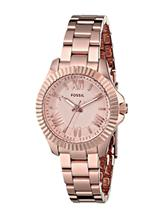 Fossil Women's Cecile Small Rose Gold-Tone Watch-AM4611