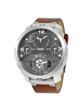 DIESEL Machinus Guntmetal Dial 4 Timezone Men's Watch-DZ7360