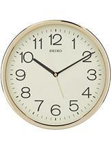 Seiko Plastic Case Wall Clock (Gold, QXA014AT)- QXA014AT