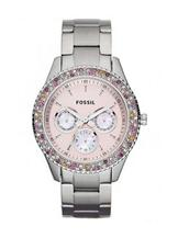 Fossil Chronograph Pink Dial Women's Watch-ES3050