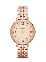 Fossil Women's Jacqueline Analog Rose Gold Watch-ES3435i