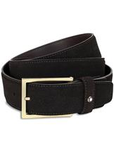 Montblanc Brown Suede Leather Belt MB112959-MB112959