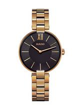 Rado Coupole Gold-Plated Black Dial Women's Watch-R22851163