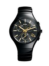 Rado True Chronograph Black Dial Ceramic Mens Watch  172-R27814172