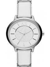 A/X Olivia White Dial White Leather LadiesWatch-AX5300