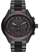 A/X Chronograph Black Dial Black Ion-platedWatch-AX1387