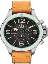 Armani Exchange Chronograph Black Dial Light Brown LeatherWatch-AX1516