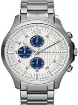 A/X Smart Chrono Silver Dial Stainless Streel Watch-AX2136