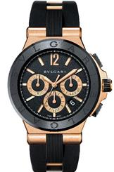 Bvlgari Diagono Black Dial Chronograph Men's Watch-101987