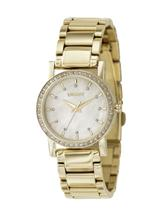 DKNY Gold-tone Steel Bracelet Mother-of-Pearl Dial Women's Watch-NY4792