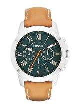 Fossil Grant Chronograph Tan Leather Watch-FS4918
