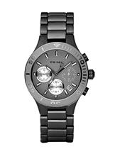 Dkny Chrono Gun Metal Ladies Watch-NY4994