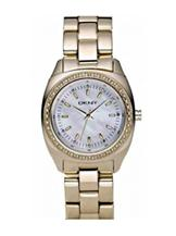 DKNY 3-Hand Analog Gold IP Women's watch -NY4996