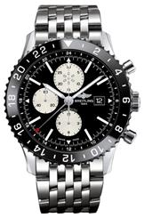 Breitling Men's Black Dial Watch-Y2431012/BE10/443A