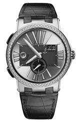 Ulysse Nardin Executive Dual Time Silver Dial Watch-243-00B/421